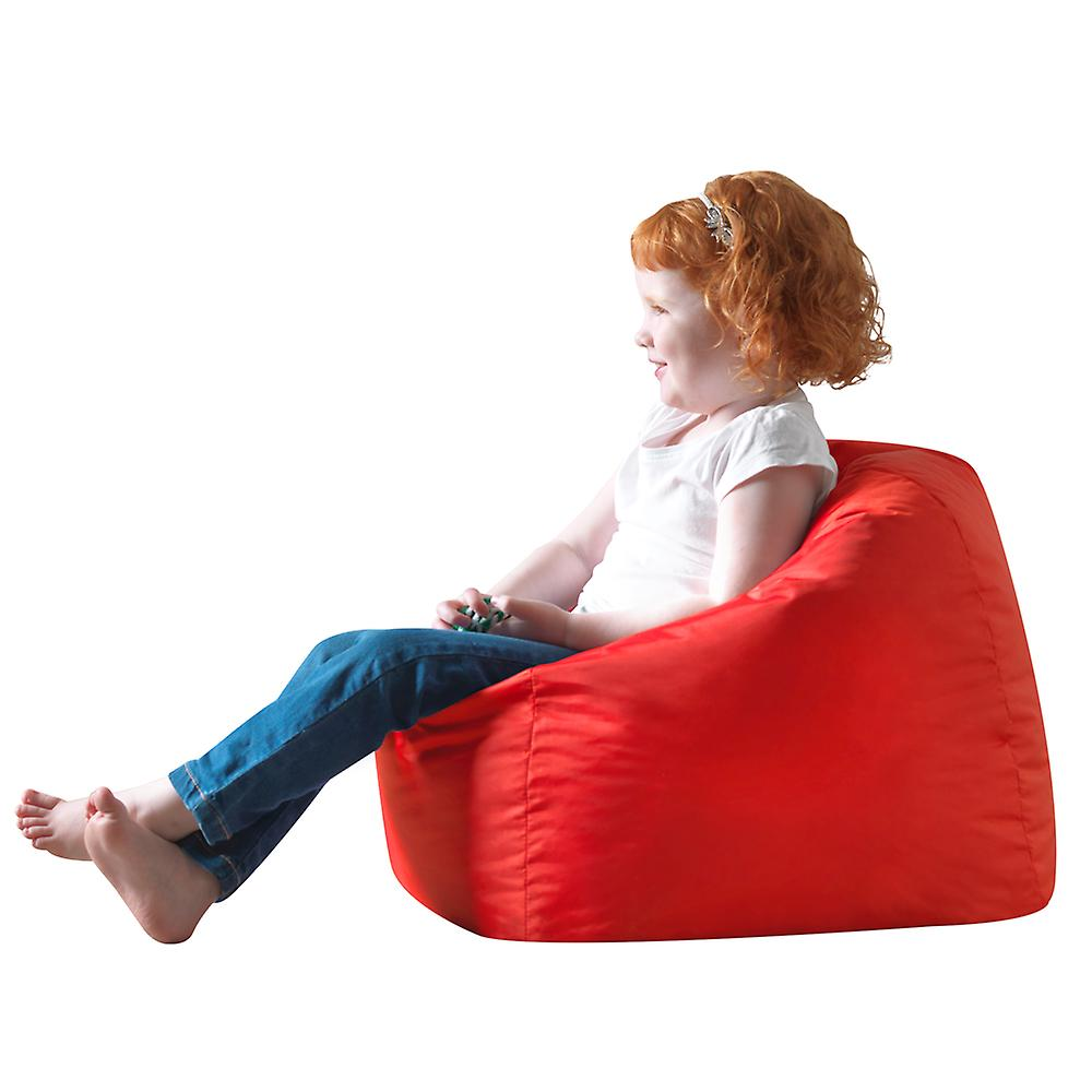 Bean Bag Bazaar® Hi-Rest Bean Bag Chair - Red, Toddlers and Kids Indoor Outdoor Beanbag
