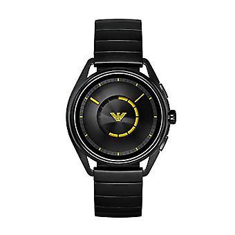 Relógio digital de Emporio Armani masculino com banda de aço inoxidável ART5007