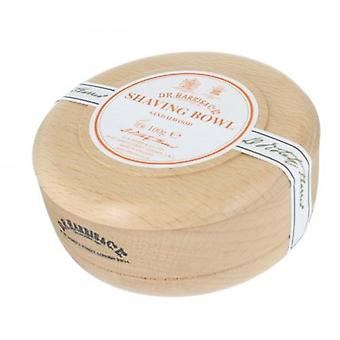 D R Harris Wooden Shaving Bowl + Soap 100g-Sandalwood-Beech