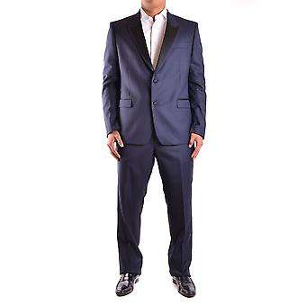 Versace Blue Wool Suit