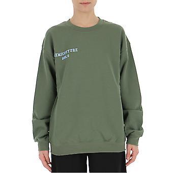 Semi-couture Caterina Green Cotton Sweatshirt