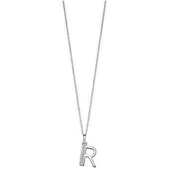 Beginnings Art Deco Initial R Pendant - Silver