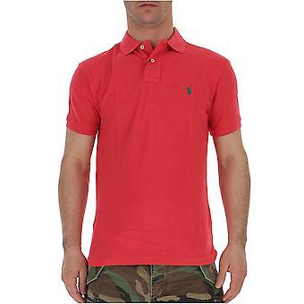 Ralph Lauren Red Cotton Polo Shirt