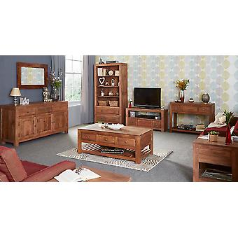 Columbia Light Mango 3 Drawer Coffee Table