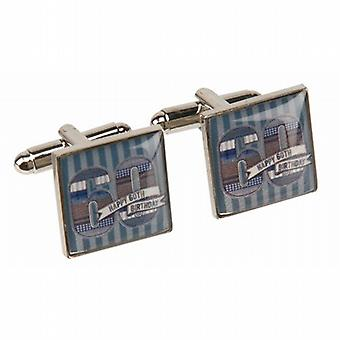 Mens LD Design Denim Collection 60th Birthday Cufflinks In Presentation Gift Box