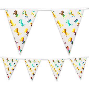 4 Metre Foil Bunting Unicorn Party Decoration