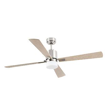 Faro - Palk Large Matt Nickel Ceiling Fan With Light FARO33470
