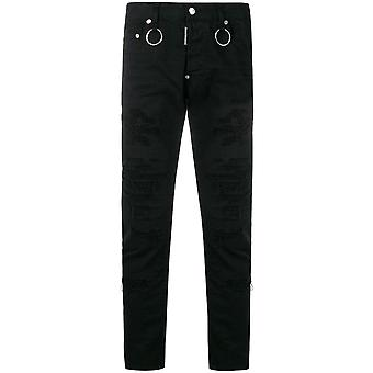Dsquared2 Distressed Slim Jeans Black