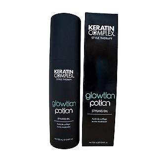 Potion de Glowtion complexe de kératine 3,4 OZ.