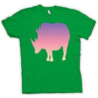 Mens T-shirt-Rainbow Rhino psychédélique