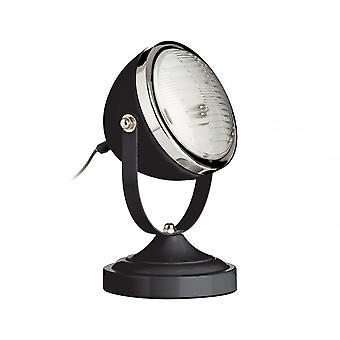 Premier Home Jasper Table Lamp, Metal, Black