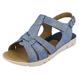 Ladies Padders Wide Fitting Strappy Sandals Petal