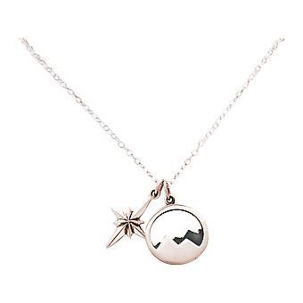 Gemshine Alpin Nordstern Polarstern halskæde 925 sølv, forgyldt eller Rose