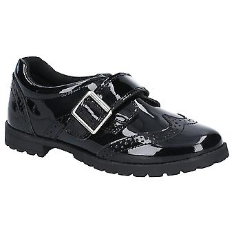 Hush Puppies Girls Emily Junior Shiny Leather Brogue Shoes