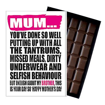 Funny Mother's Day Gift Boxed Chocolate Present Rude Greeting Card For Mom Mum Mumy MIYF127