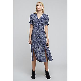 Louche Corina Micro Floral Dress Blue