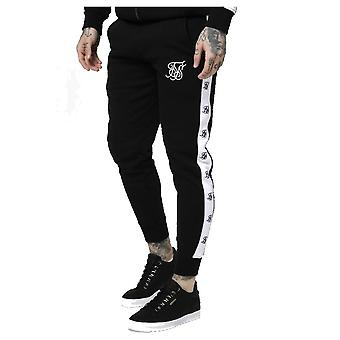 Sik Silk Black & White Muscle Fit Jogger