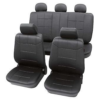 Mørkegrå sædebetræk til Opel Agila 2009-2018