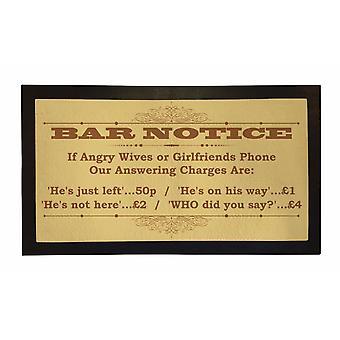 Printed Bar Runner Bar Notice Flag Rubber Bar Mat Mens Gift Idea