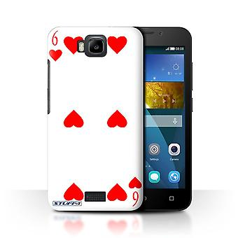 STUFF4 Case/Cover for Huawei Honor Bee/Y5c/6 of Hearts/Playing Cards