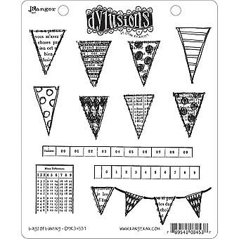 Dyan Reaveley's Dylusions Cling Stamp Collection Bags Of Bunting Dyr 34537