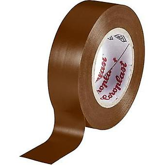 Electrical tape Coroplast Brown (L x W) 10 m x 15 mm Acrylic Content: 1 Rolls