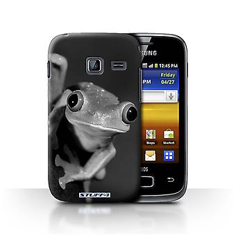 STUFF4 Case/Cover for Samsung Galaxy Y Duos/S6102/Frog/Mono Zoo Animals