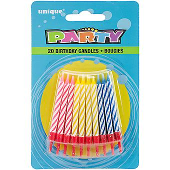 Birthday Candles W/Holders 2.25