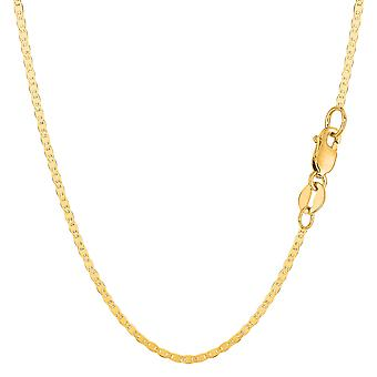 10k Yellow Gold Mariner Link Chain Necklace, 1.7mm