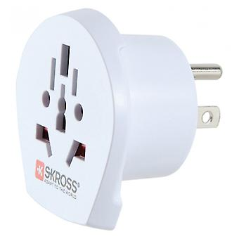 Skross World Travel Adapter-to-United States Grounded