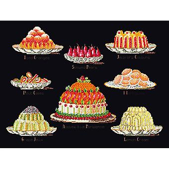 Sweet Dishes On Aida Counted Cross Stitch Kit-12.75