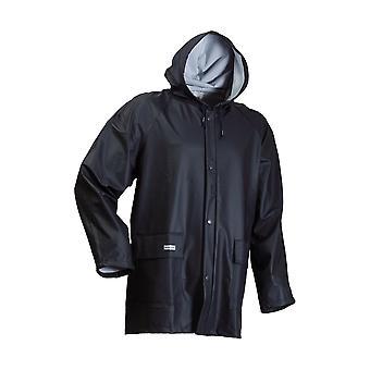 Lyngsoe LR48 Mens Rain Jacket Front Zip Fixed Hood Windproof Waterproof Clothing
