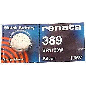 Renata 389 Mercury Free 1.55v Silver Oxide Watch battery - Pack of 10 (SR1130W)