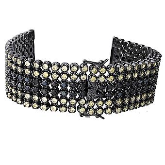 Iced out BLING watches bracelet - 6 ROW BLACK GOLD