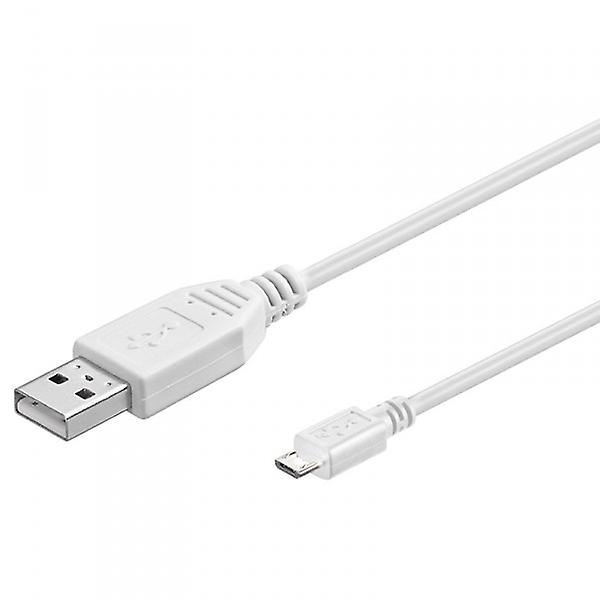 Original Goobay micro USB data cable white