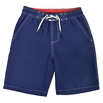 Garçons Tom Franks contrastées ceinture Summer Beach Swim Shorts avec doublure en maille