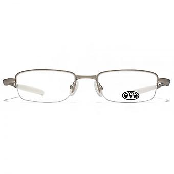 Animal Jesse Semi Rimless Rectangle Glasses In Dark Gunmetal