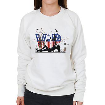VIP Colourful Pattern Pole Dancer Women's Sweatshirt
