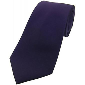 David Van Hagen Satin Silk Tie - Purple