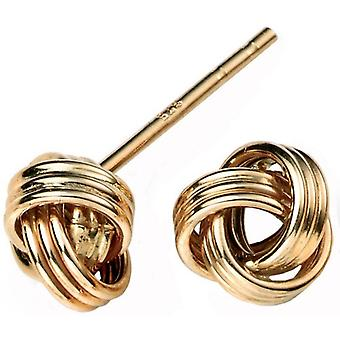 Elements Gold Knot Earrings - Gold