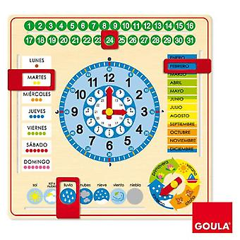 Goula Learning clock Castilian (Toys , Educative And Creative , Mathematics)