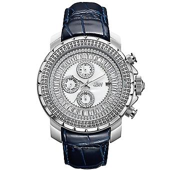 JBW men's diamond watch with Swarovski crystals silver