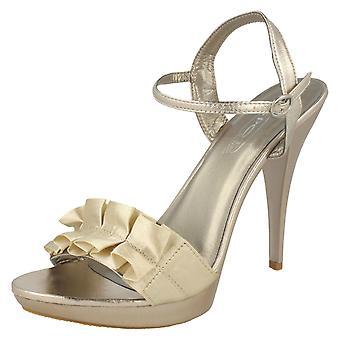 Ladies Spot On Stiletto Heel Evening Sandals F1751