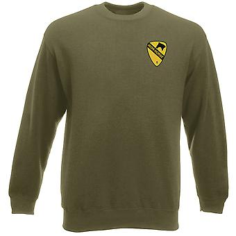 US Army 1st Cavalry Iron Horse broderad logo - Heavyweight tröja