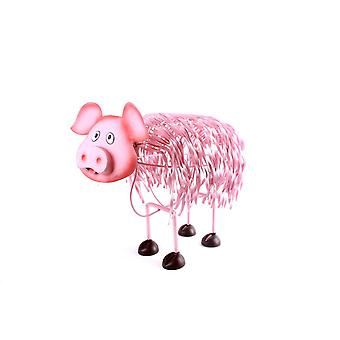 METAL PIG PINK 43X21.5X45CM HOME DECORATION ORNAMENT