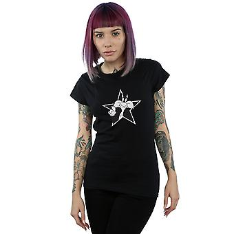 Looney Tunes Women's Sylvester Mono Star T-Shirt