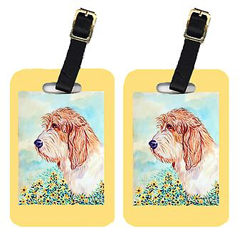 Carolines Treasures  7229BT Pair of 2 Petit Basset Griffon Vendeen Luggage Tags