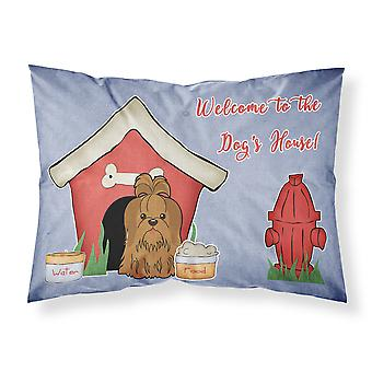 Dog House Collection Shih Tzu Silver Chocolate Fabric Standard Pillowcase