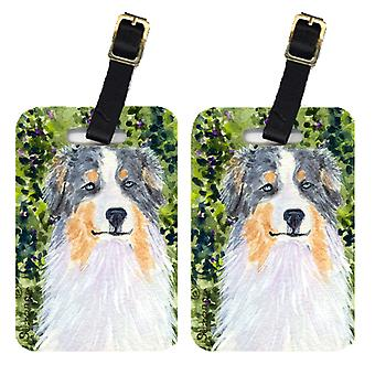 Carolines Treasures  SS8731BT Pair of 2 Australian Shepherd Luggage Tags