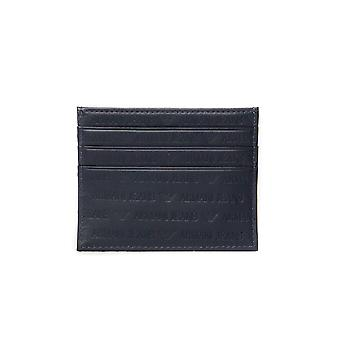Armani Jeans Dark Navy Leather Card Holder